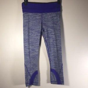 Lululemon Leggings cropped workout purple 4